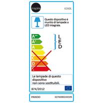 Applique Shedepan LED integrato in alluminio, grigio, 15.5W 1700LM IP54 INSPIRE