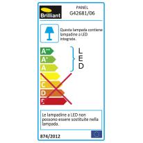 Applique Panel LED integrato in alluminio, nero, 9W 600LM IP44