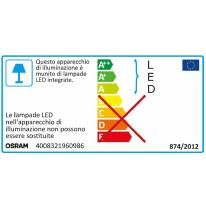 Proiettore LED integrato con sensore di movimento Noxlite in alluminio, antracite, 6W 460LM IP44 OSRAM