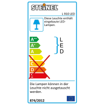 Applique L910 LED integrato in plastica, argento, 11W 990LM IP44 STEINEL