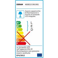 Proiettore LED integrato Noxlite in alluminio, grigio, 8W 1720LM IP44 OSRAM