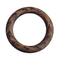 Anelli Ø28mm in legno marrone grezzo INSPIRE, 10 pezzi