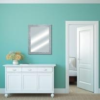 Specchio a parete rettangolare Glitterato argento 60x90 cm