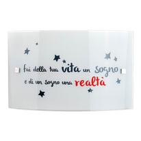 Plafoniera Realta' bianco, in vetro32 cm, E27 MAX42W IP20