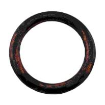 Anelli in metallo nero verniciato , 10 pezzi