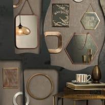 Specchio a parete rettangolare Etoilelinear rame 20x30 cm