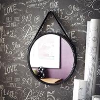 Specchio Kuze tondo grigio 40.5x40.5 cm