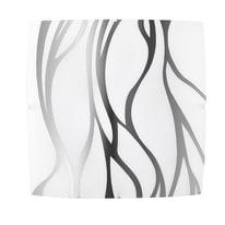 Plafoniera Sonny grigio, in vetro, 40x40 cm, E27 3xMAX42W IP20