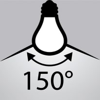 Lampadina LED E27 standard bianco freddo 20W = 2452LM (equiv 150W) 150° LEXMAN