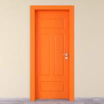 Porta a battente Coconut Groove arancio L 90 x H 210 cm sinistra