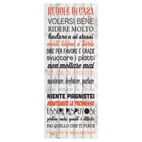Sticker Regole casa 9x96 cm