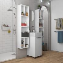 Mobile bagno Easy bianco L 38 cm