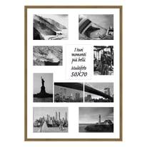 Cornice multifoto Diagonal legno sbiancato 10 foto