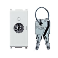 Interruttore a chiave VIMAR Plana 16 A bianco