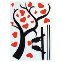 Sticker Love ramage 47.5x70.5 cm