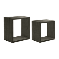 Mensola a cubo L 35 x H 35 cm, Sp 22 mm rovere scuro