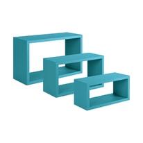 Mensola a cubo Spaceo L 45 x H 27 cm, Sp 15 mm blu