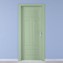 Porta a battente Coconut Groove verde L 80 x H 210 cm sinistra