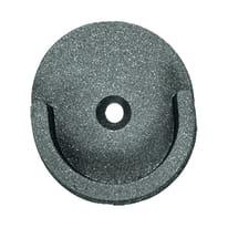 Supporto singolo aperto Ø20mm Rosetta in metallo grigio , 3 pezzi