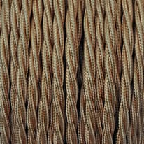Cavo tessile MERLOTTI 2 fili x 0,75 mm² oro 5 metri