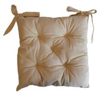 Cuscino per seduta lurex panna 38x40 cm