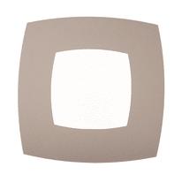 Plafoniera Bice bianco, in plastica, 40x40 cm, LED integrato 24W IP20
