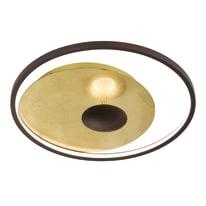 Applique Catania oro, in metallo, LED incassato 20W IP20 WOFI