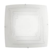Plafoniera Concept bianco, in vetro, 30x30 cm, E27 2xMAX60W IP20