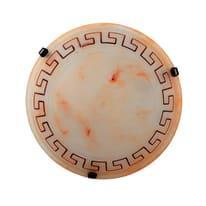 Plafoniera Creta marrone, in vetro, diam. 40 cm, E27 2xMAX42W IP20