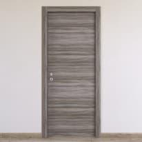 Porta a battente Cover palissandro grigio L 80 x H 210 cm reversibile