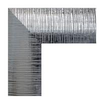 Specchio Sibilla rettangolare argento 60x80 cm