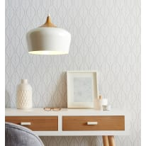 Lampadario Fresno bianco, beige, in metallo, diam. 30 cm, E27 MAX60W IP20 INSPIRE