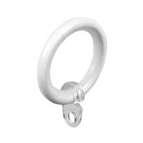 Anelli in metallo bianco satinato , 8 pezzi