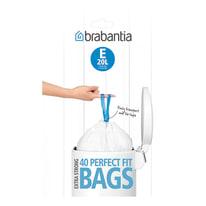Sacchi spazzatura PerfectFit Bags E 20 L bianco 40 pezzi