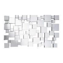 Specchio Sophia rettangolare argento 70x40 cm