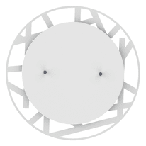 Plafoniera Shadow t bianco, in vetro, diam. 30, LED integrato 12W IP20 LUMICOM