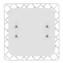 Plafoniera Shadow q bianco, in vetro, 40x40 cm, LED integrato 18W IP20 LUMICOM