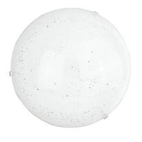 Plafoniera Scinty bianco, in vetro, diam. 30, LED integrato 12W IP20
