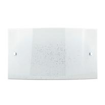 Plafoniera Scinty bianco, in vetro, 20x32 cm, LED integrato 15W IP20