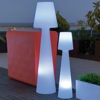 Lampada da terra Lola H165cm H165cm, in plastica, luce bianco, G13 IP65 NEWGARDEN