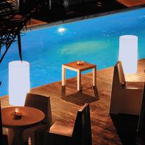 Lampada da esterno tuby H70cm, in plastica, luce bianco, E27 IP65 NEWGARDEN
