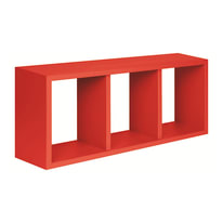 Mensola a cubo L 70 x H 30 cm, Sp 18 mm rosso