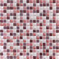 Mosaico Tonic H 30 x L 30 cm rosso