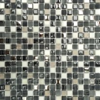 Mosaico Fusion H 30 x L 30 cm grigio argento