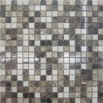 Mosaico Mineral H 0.8 x L 30.5 cm marrone