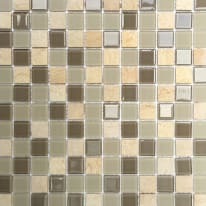 Mosaico Simply H 30 x L 30 cm beige