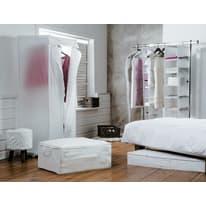 Scatola L 48 x P 15 x H 100 cm sottoletto per vestiti bianco trasparente