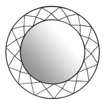 Specchio Jennifer quadrato nero 34x34 cm