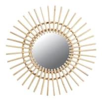 Specchio Naomi tondo rovere chiaro 23.5x23.5 cm
