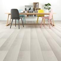 Pavimento laminato Neige Sp 10 mm bianco